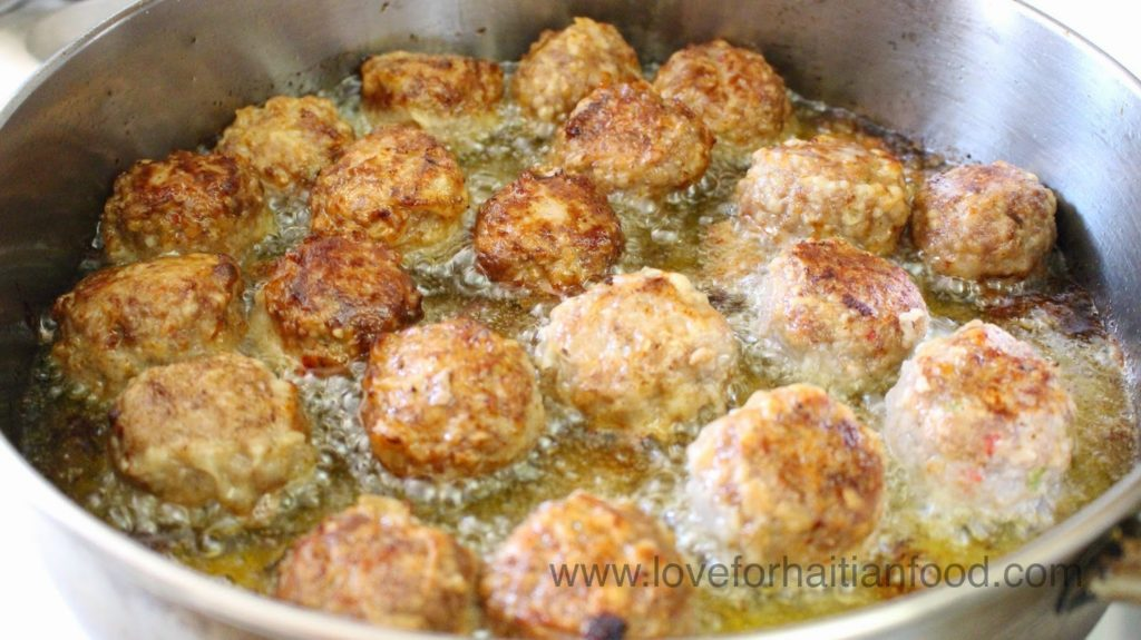 Boult haitian meatballs love for haitian food sounds delicious right thats because it is delicious im not a spicy food lover but i do love the slight spiciness of haitian style meatballs forumfinder Images