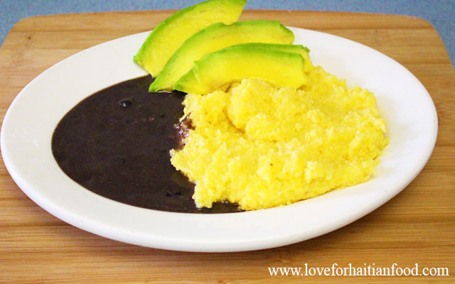 mayi moulen cornmeal polenta love for haitian food