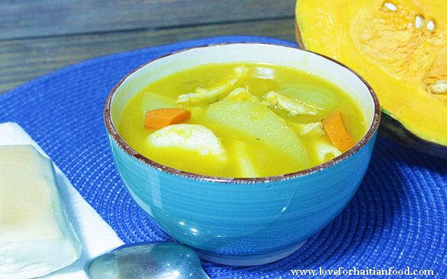 Soup Joumou Ak Poul Chicken Squash Soup Love For Haitian Food